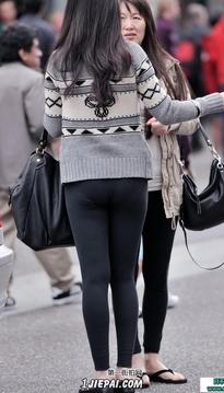 紧身裤美女